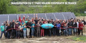 Inauguration 1er parc solaire coopératif Auterrive (Gers)