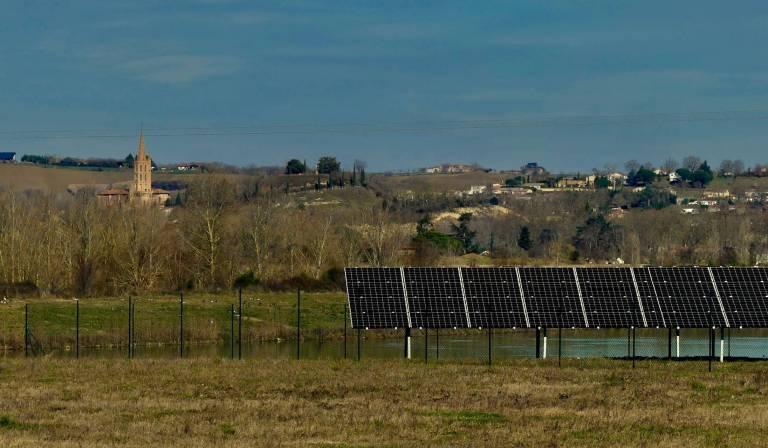 Parc solaire de Cintegabelle fin des travaux.