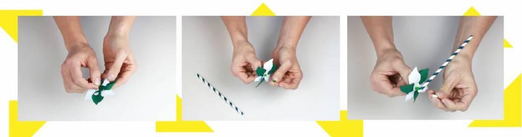 Illustration étapes 7 à 9 du tutoriel moulin à vent